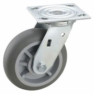 Swivel Plate Caster 600 Lb ball Zoro Select 2ly30