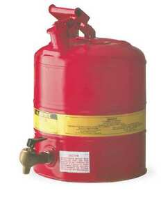 Type I Faucet Safety Can 5 Gal red Justrite 7150140