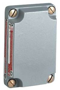 Electrical Box Cover aluminum 1 gang Hubbell Killark X 10