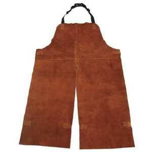 Split Leg Welding Bib Apron Leather