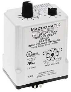 Time Delay Relay 24vac dc 10a dpdt Macromatic Tr 60628