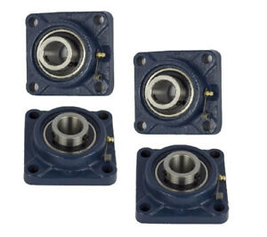 Ucf210 32 Pillow Block Flange Bearing 2 Bore 4 Bolt Solid Base 4pcs