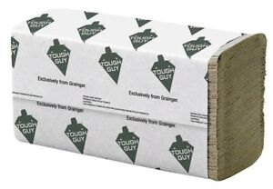 Brown Paper Towels Multifold 16 Pack 250 Sheets Pack Tough Guy 38c403