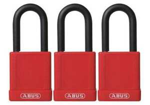 Lockout Padlock ka red 1 3 4 h pk3 Abus 74 40 Kax3 Red