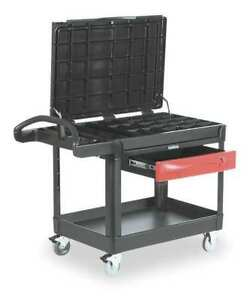 Trade Cart service Bench 500 Lb black Rubbermaid Fg453588bla