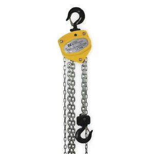 Manual Chain Hoist 3000 Lb lift 20 Ft Oz Lifting Products Oz015 20chop