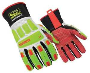 Ringers Gloves Size M Size M Mechanics Gloves High Visibility Green red white