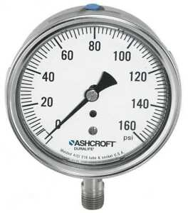 Gauge pressure 0 To 60 Psi 1009sw Ashcroft 251009sw02l60