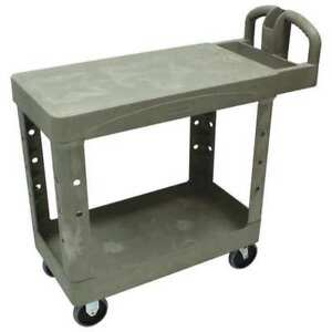 Utility Cart 500 Lb Load Cap plastic Rubbermaid Fg450500beig