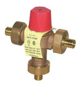Mixing Valve brass 23 Gpm 5 9 16 In H Watts 1 2 Lf1170m2 pex