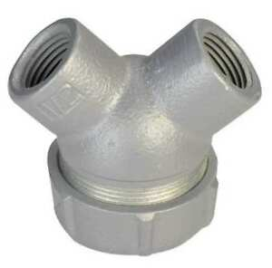 Capped Elbow haz Loc 1 2 In Hub aluminum Appleton Electric Elby 50a