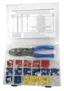 Vinyl Wire Terminal Kit 194 Piece W tool Power First 5ugk5