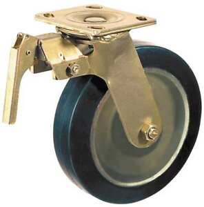 Swivel Plate Caster poly 6 In 1200 Lb blk