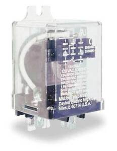 Dayton 2a545 Enclosed Power Relay 8 Pin 24vdc dpdt