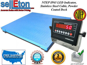 Ntep 4 X 5 48 X 60 Industrial Warehouse Floor Scale With 5000 Lbs X 1 Lb