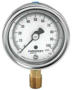 Gauge pressure 0 To 60 Psi 304 Ss Ashcroft 351009awl02l60