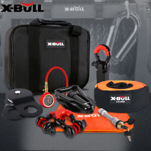 X Bull 11pcs Recovery Winch Accessory Kit Snatch Pulley Block Bow Shackles 4wd