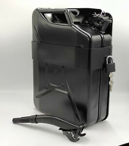 Jerry Can With Holder 20l Liter 5 Gallons Steel Tank Fuel Gas Gasoline