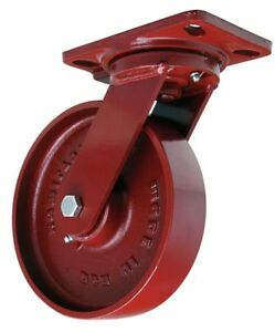Plate Caster swivel cast Iron 8 In 1500 Lb a S hs 8m