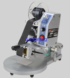 Manual Hot Foil Stamping Printer Thermal Ribbon Date Code Printing Machine 220v