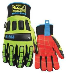 Impact Gloves l high Visibility Green pr Ringers Gloves 264 10