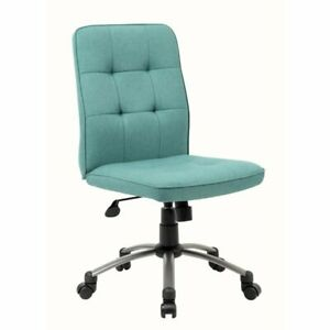 Boss Pretty Parsons Modern Armless Office Chair In Green