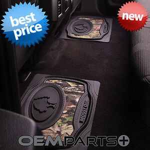 2x New Mossy Oak Rear Floor Mats Mo Break Up Country Camo Truck Suv Car Pair
