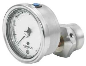Pressure Gauge 0 To 60 Psi 2 1 2in 1 4in Ashcroft 251009aw02b 310sslxcg60