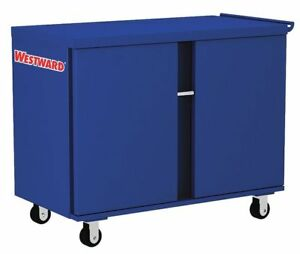 Westward 24y922 Rolling Workbench 43 87 X26 87x38 5 blue