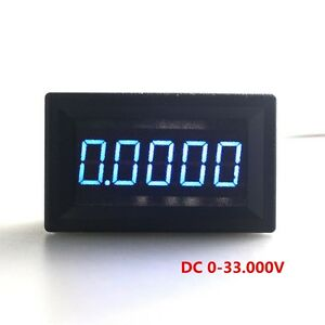 5pcs lot Dc 0 33v Digital Panel Voltmeter Blue Color Leds Voltage Meter