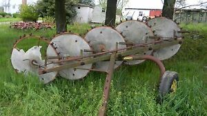 Vintage Farmhand 5 Wheel Hay Rake Model F76e Used Last Season Works Well