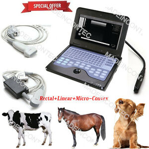 Vet Veterinary Portable Ultrasound Scanner Machine Usa three Probes Contec 600p2