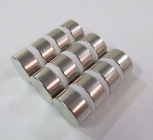 12 Pcs 1 X 1 2 N52 Cylinder Disc Magnets 25x13mm Big Rare Earth Neodymium