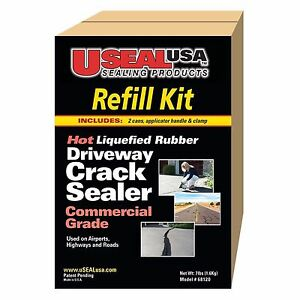 Home Reno 7 Lb Easy pour Spout Stainless Steel Clamp Driveway Sealer Refill Kit