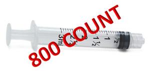 3ml Luer Lock Syringe Only 3cc 800 case Sterile Individually Wrapped