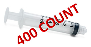 5ml Luer Lock Syringe Only 5cc 400 case Sterile Individually Wrapped