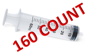 60ml Luer Lock Syringe Only 60cc 160 case Sterile Individually Wrapped