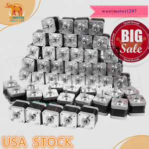 Clearance usa Free Wantai 60pcs Nema17 Stepper Motor 42byghw811 4800g cm 48mm