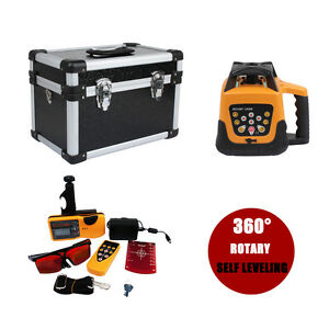 Self leveling Rotary Rotating Red Laser Level Kit With Case 500m Range