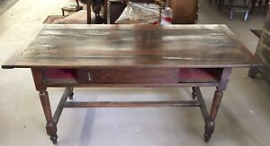 Antique English Country Writing Table Desk 19th Cent Gorgeous Patina
