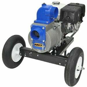 Amt Pump 3994 96 530 Gpm 4 Electric Start Trash Pump W Honda Gx390 Engi