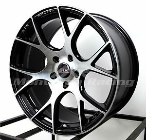 18x8 5 5x108 Str 905 Black Machine Face Ford Jaguar Volvo