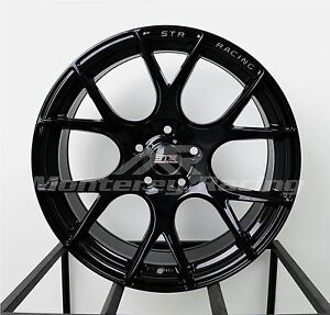 18x8 5 5x108 Str 905 Gloss Black Ford Jaguar Volvo
