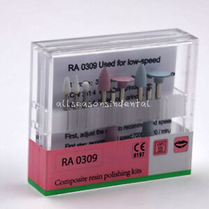 Ra0309 Dental Resin Composite Polishing Kit For Low speed Handpiece Contra Angle