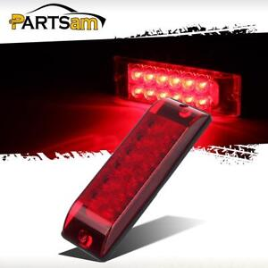 Submersible 8 X 2 5 Surface Mount 12 Led Red Stop Turn Tail Light Truck Trailer