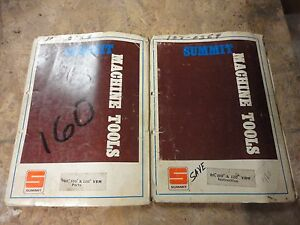 Summit 80 100 And 120 Vbm Parts And Operations Manuals Vertical Boring Mill