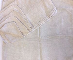 2500pcs Industrial Shop Rags Cleaning Towels Natural 13 x14