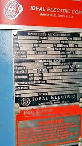 Ideal Electric 3500kw Generator End 1800rpm 4160 Volt