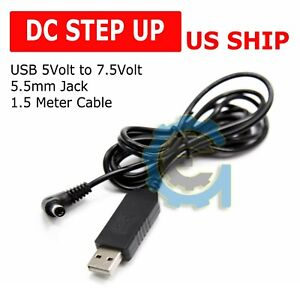 Usb Dc 5v To Dc 7 5v Step Up Module Converter 5 5mm Charging Cable For Arduino