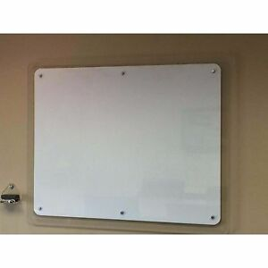 Home Materials High End Look 48 X 96 X 2 inch Clear white Boom Dry Erase Board